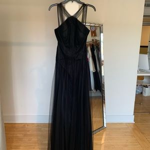 Hayley Paige black tulle Bridemaids dress